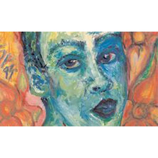 Selbstbildnis Grace Marta Latigo in blau-orange