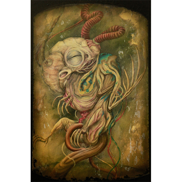 Surrealistische embryonale Monsterfigur