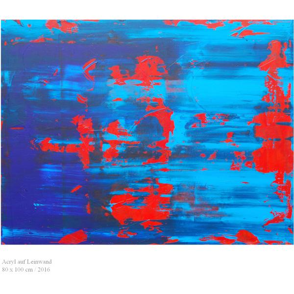 rot-blau abstrakt
