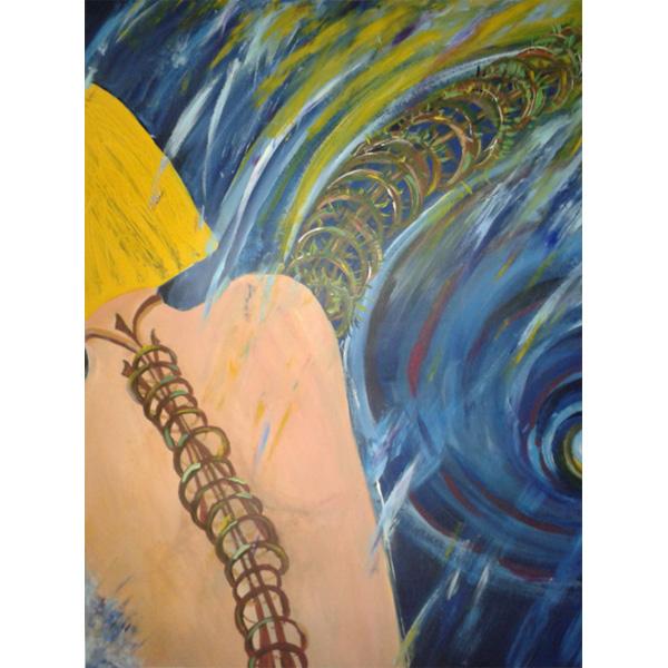 Frau von hinten abstrahiert