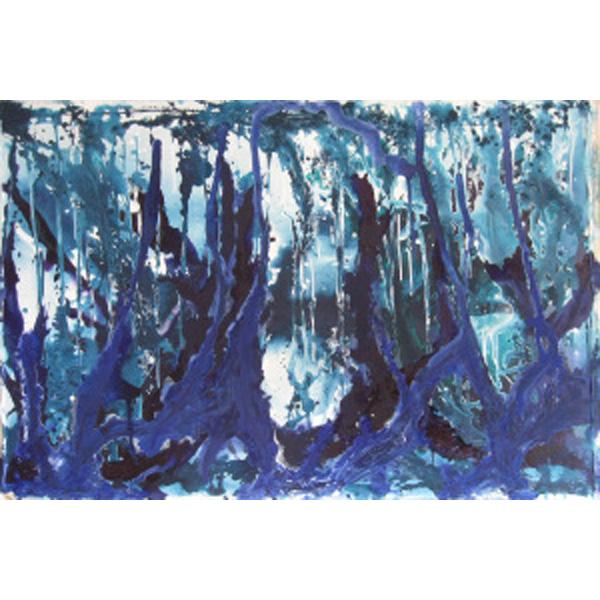 blau-weiß-schwarz abstrakt