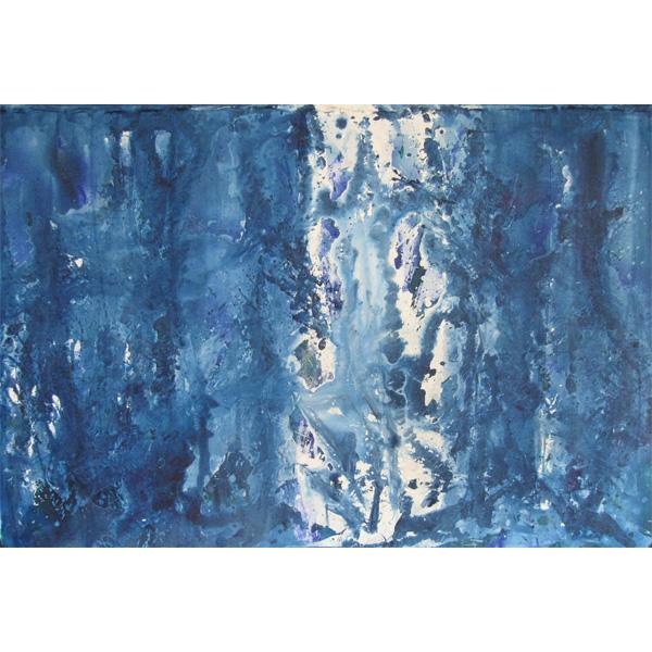 blau-weiß abstrakt